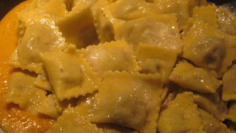 ravioli con crema di zucca